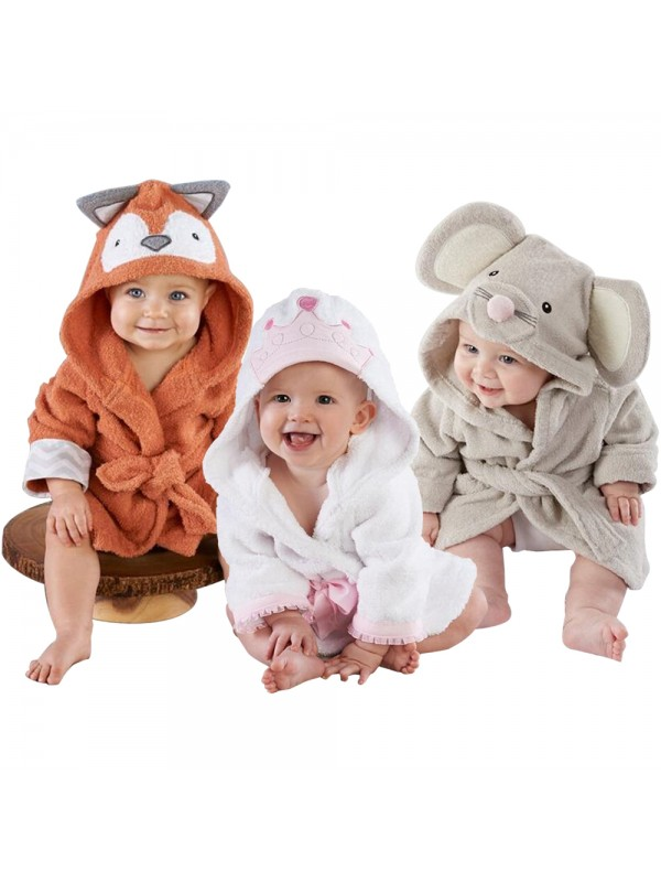 Children Bathrobes Baby Girls Boys Robes Pajamas