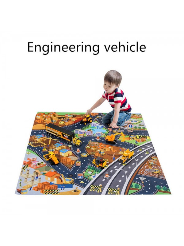 Alloy Vehicle Model Toy With Carpet
