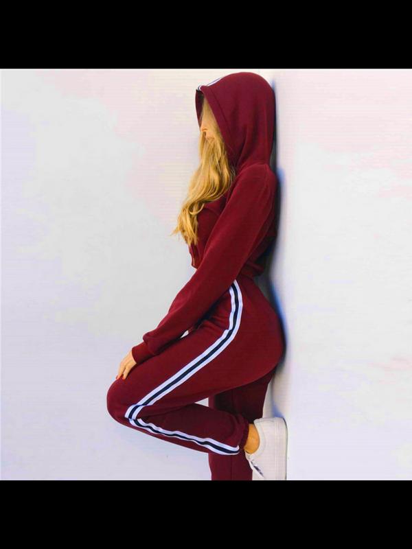 Women's Hooded Sweatshirt Sports Suit