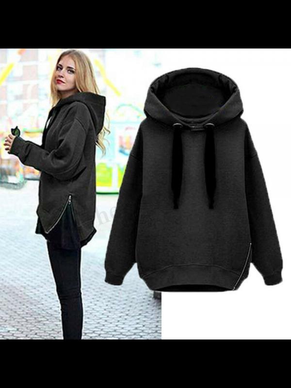 Women Warm Hooded Pullover Sweatshirt