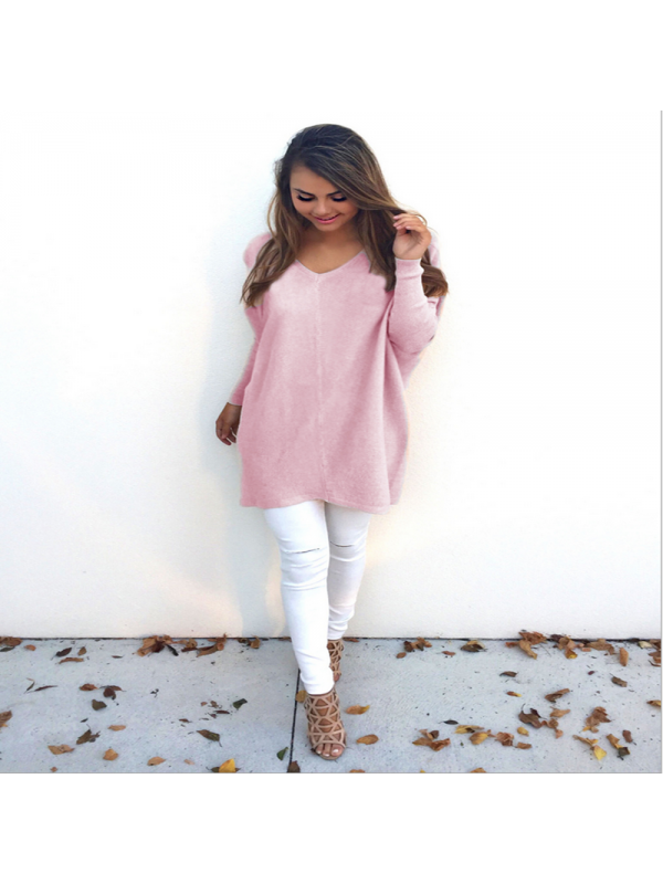 Ladies Sweater Oversized Pullover Top