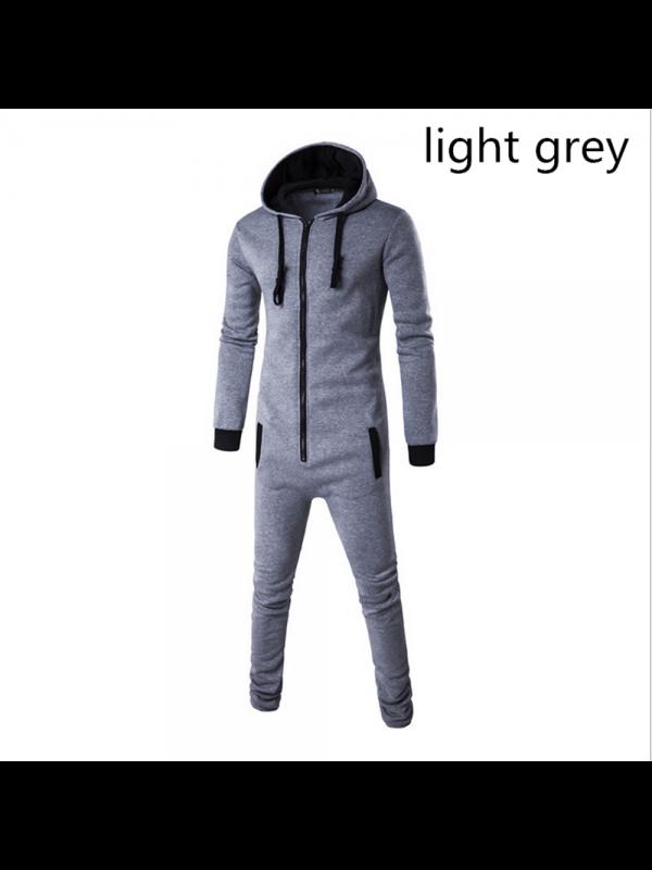 Men Fashion Hooded Jumpsuit