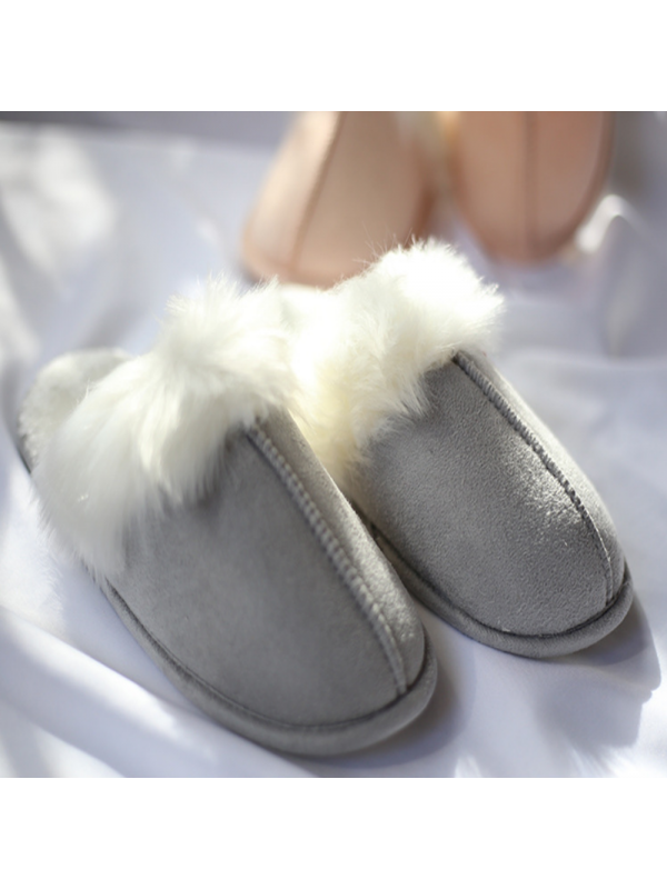 Solid Color Ladies Soft Velvet Slippers