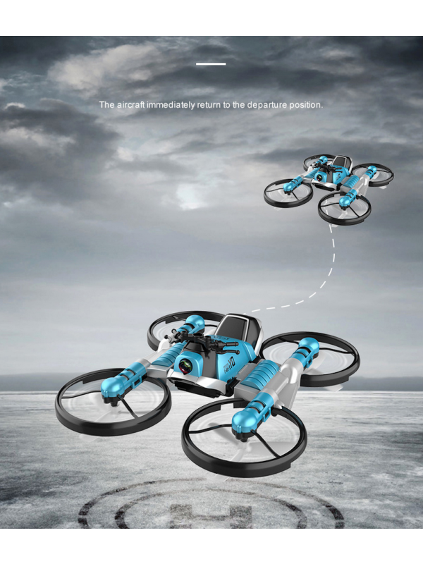 Remote Control Deformation Motorcycle Folding Quadcopter