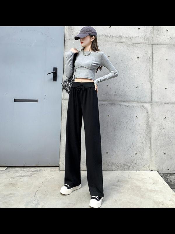 Women's High Waist Sag Loose Wide-legged Trousers