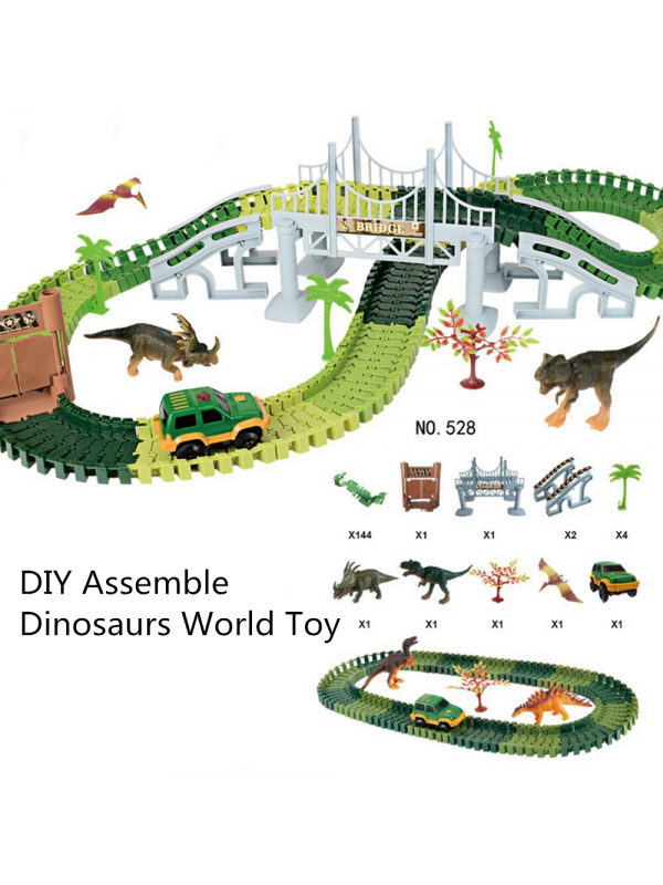 DIY Assemble Dinosaurs World Toy