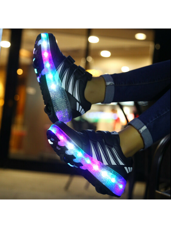 Roller Shoes Sports Wheels Skates Gift Flash LED Trainers
