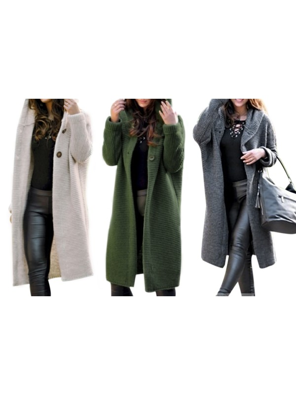 Women Knitted Cardigans Sweater Coat