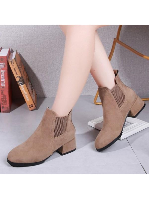 Women Thick heel Elastic Martin Boots