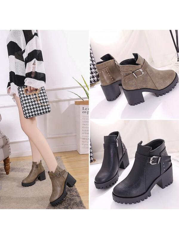 Women Thick Heel Warm Martin Boots