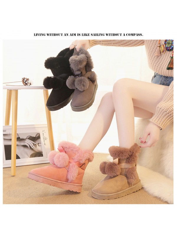 Women Warm Winter Suede Snow Boots