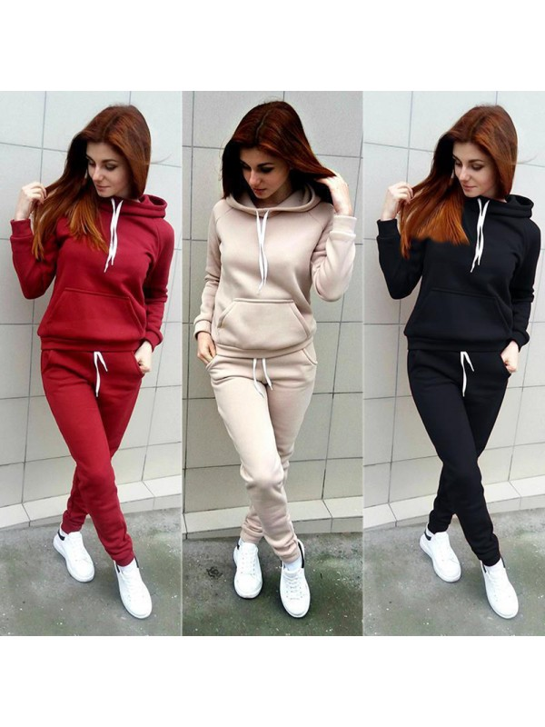 Women Hooded Sports Suits Sexy Sportswear