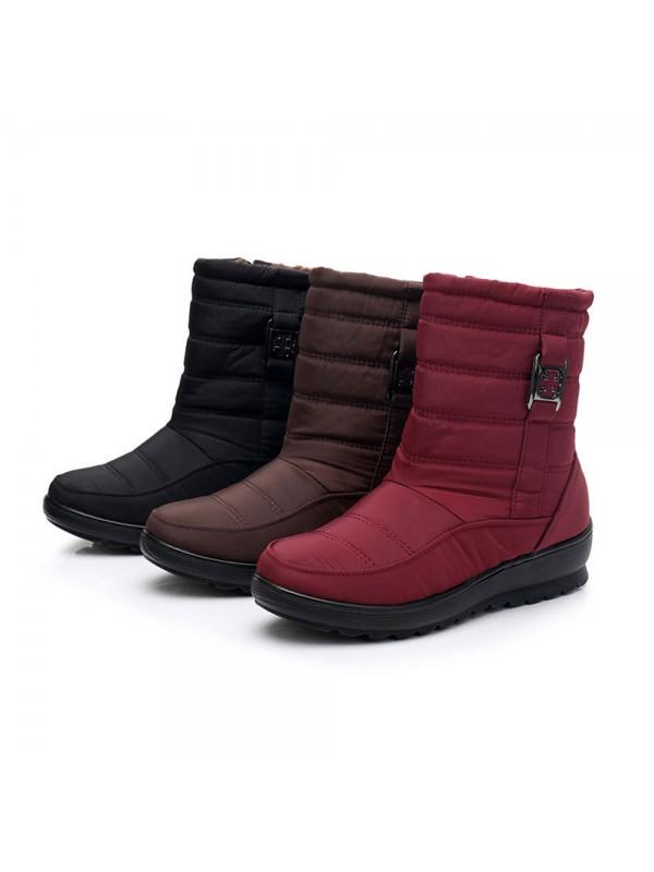Women Waterproof Snow Boots Cotton Shoes