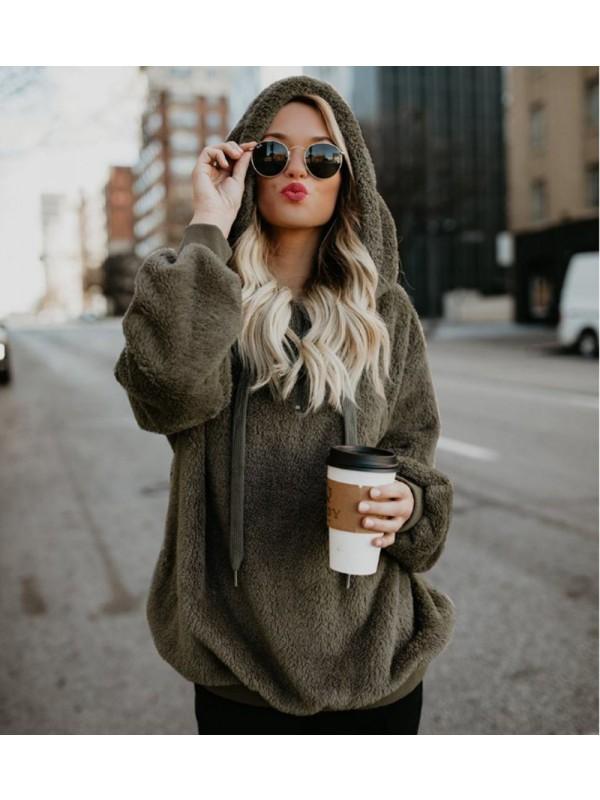 Autumn Winter Women Hoodie Coat Sweaters