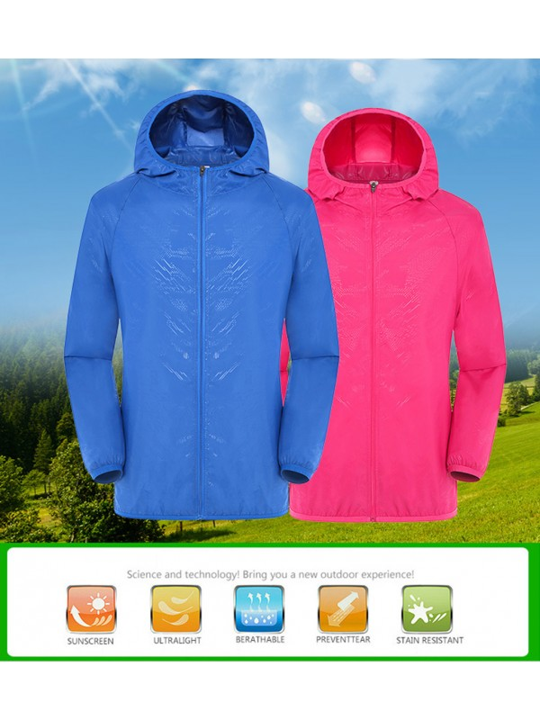 Hooded Jackets Windproof Windbreaker