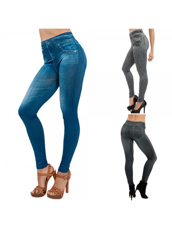 Women Winter Denim Pants Leggings