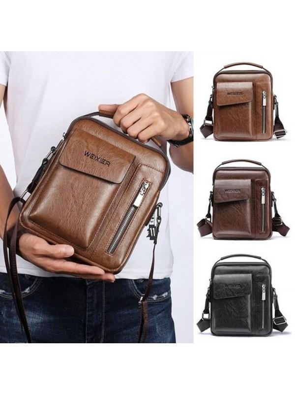 Men's Bags Retro Casual Crossbody Shoulder Bag