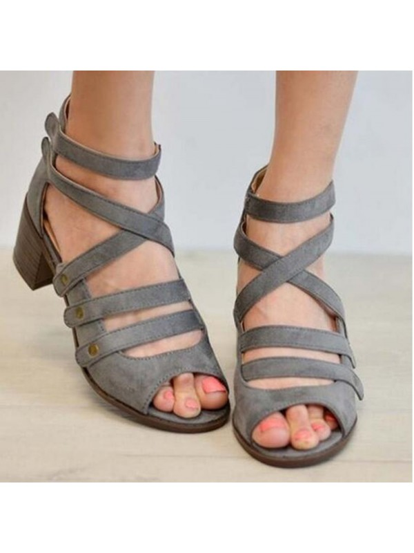 Ladies Rivet Casual Breathable Sandals