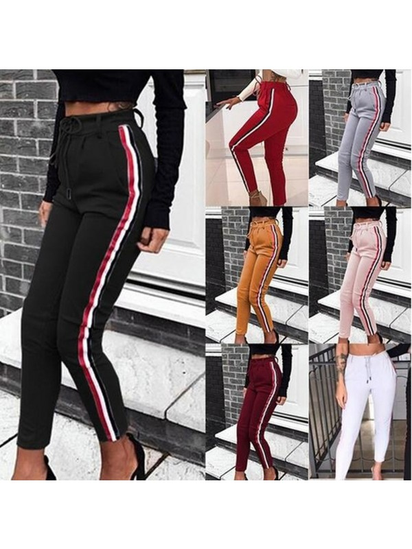 Women's Fashion High Waist Casual Pants