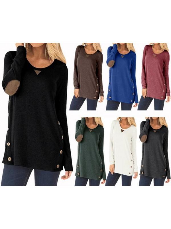 Women Round Neck Long Sleeve T-shirt