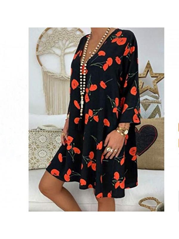 Womens Summer Casual Beach Sun Dress