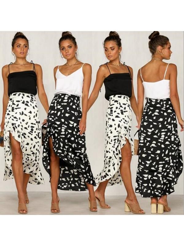 Women Sexy Ruffled Irregular Skirt