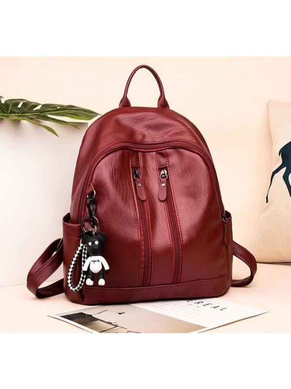 PU Soft Fashion Casual Backpack