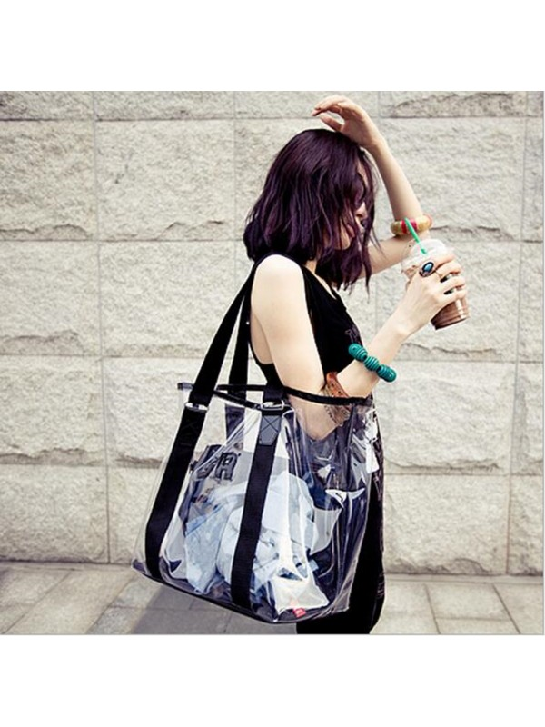 Women Fashion Transparent Shoulder Bag