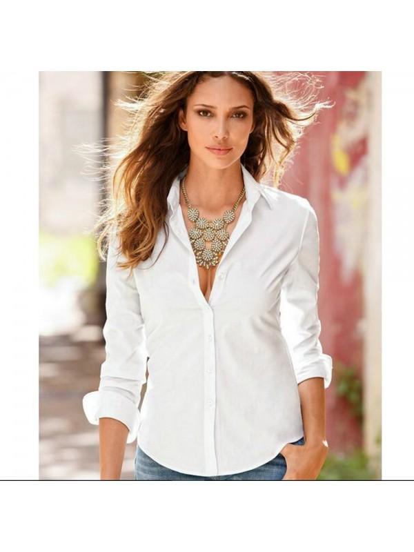 Fashion Slim Long Sleeve Women's Shirt