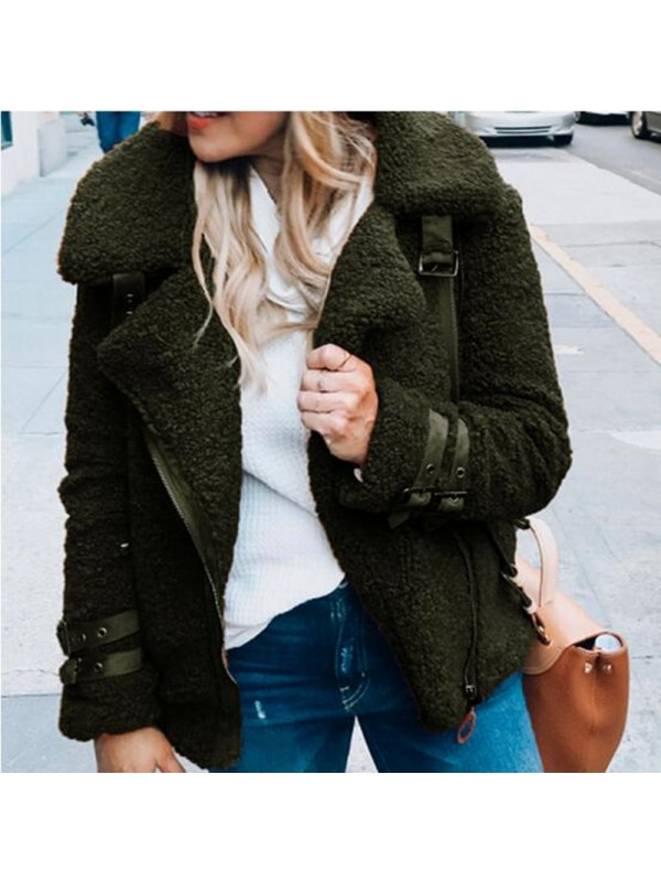 Women Winter Cardigan Plush Coat