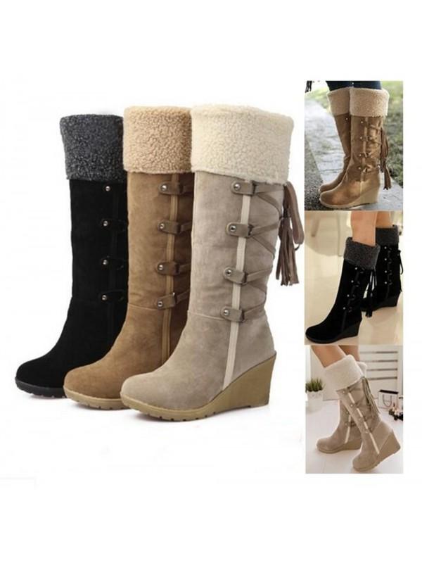 Women's Warm Boots Knee High Boots