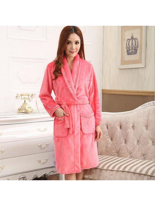 Women Fashion Nightgown Ladies Bathrobe