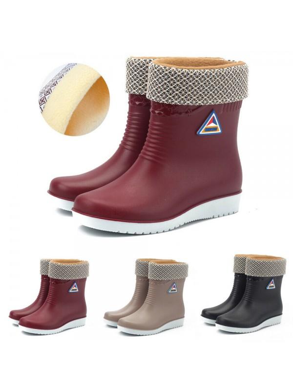 Women Warm Winter Snow Rain Ankle Boots
