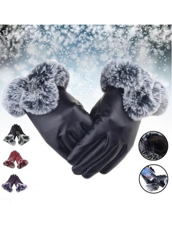 Women Winter Thick Warm Gloves