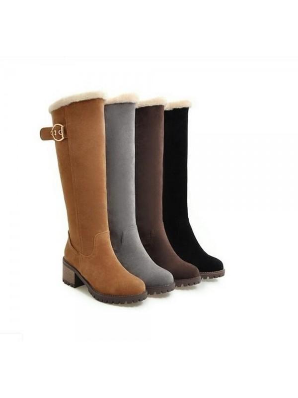 Women Knee High Snow Boots