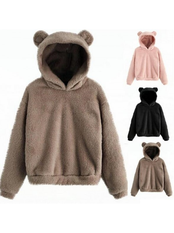 Women Winter Teddy Hoodies