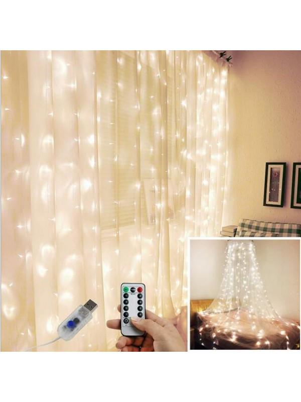 Curtain String Light House Decor