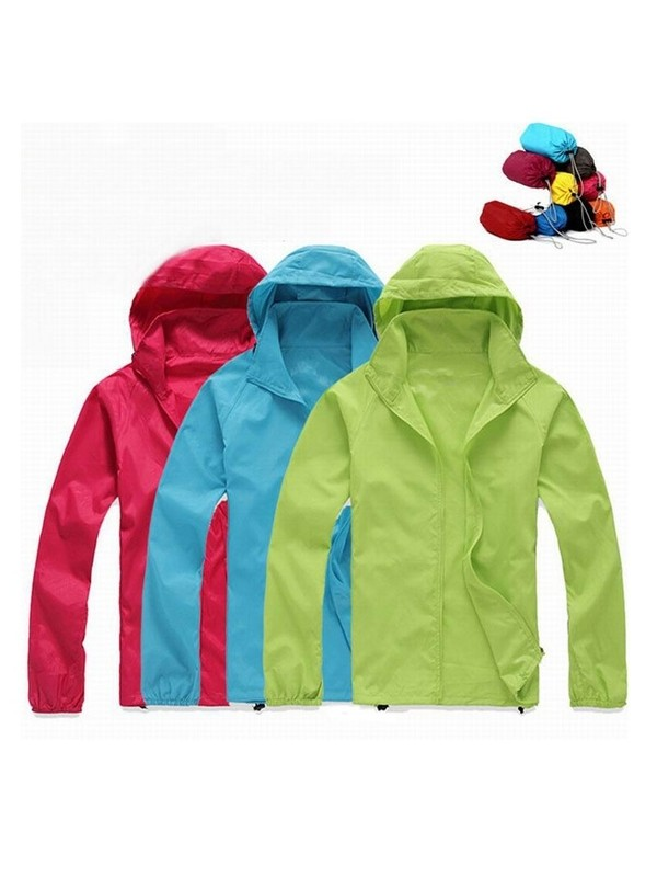 Foldable Quick Dry Outdoor Camping Waterproof Jackets