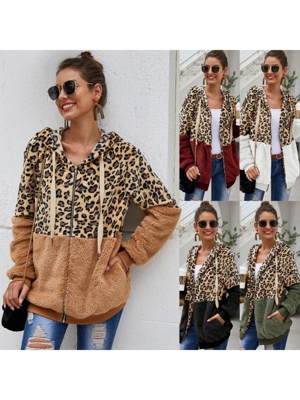 Fashion Leopard Stitching Jacket