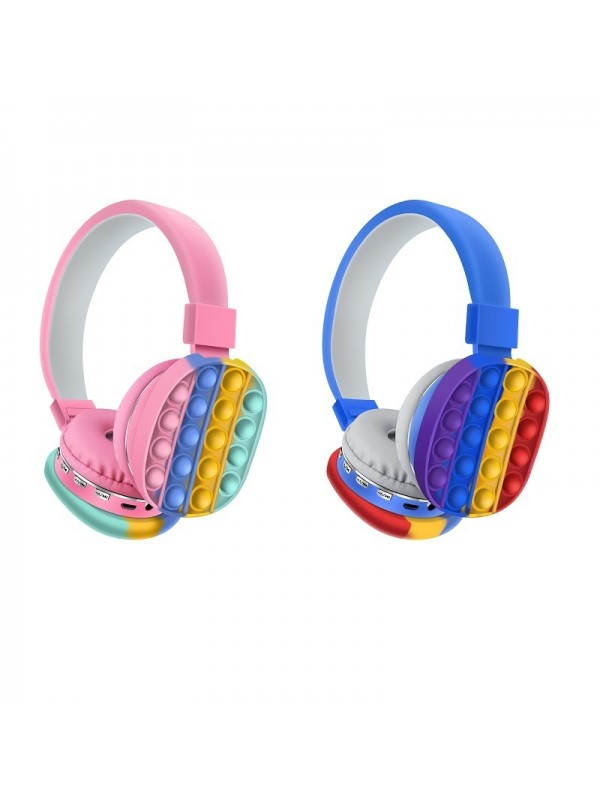 Silicone Pop Bubble Stereo fidget Bluetooth Headset