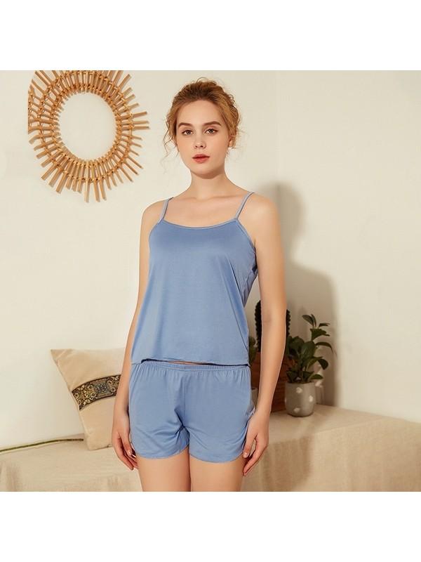 2Pcs Pack Women Pajamas Set Bralette and Shorts
