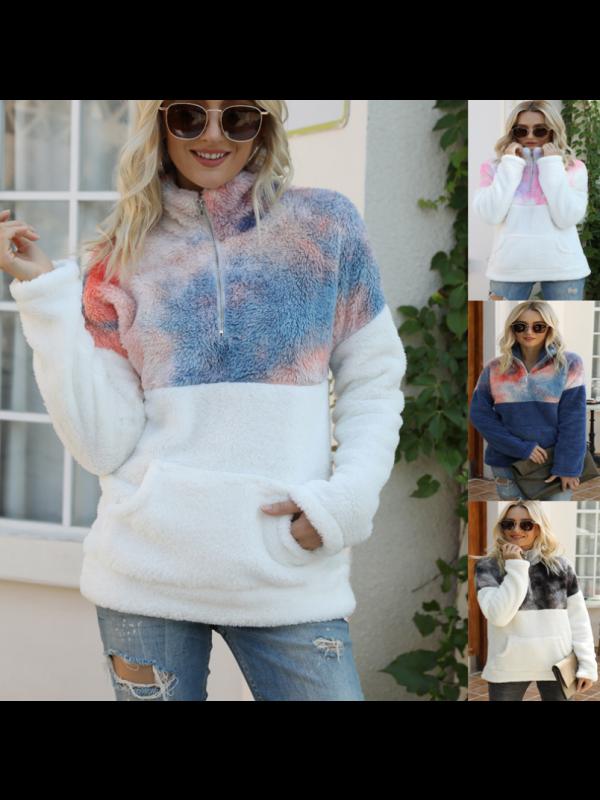 Winter Women's Fashion Jacket Plush Loose Jacket
