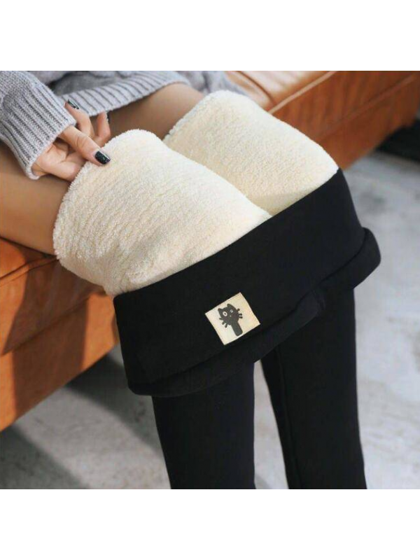 Winter Warm Thick Fleece Women Leggings High Elasticity Trousers