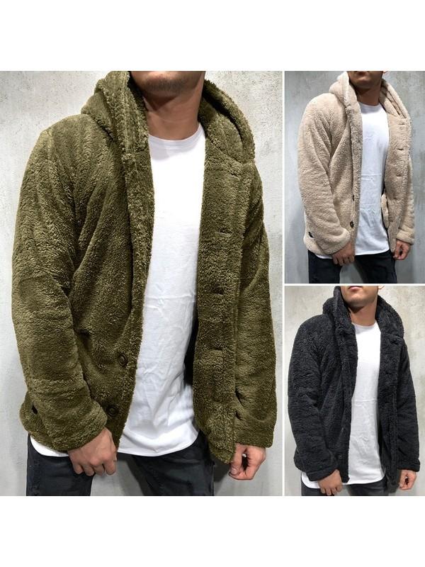 Men's Hoodie Cardigan Chunky Winter Coat