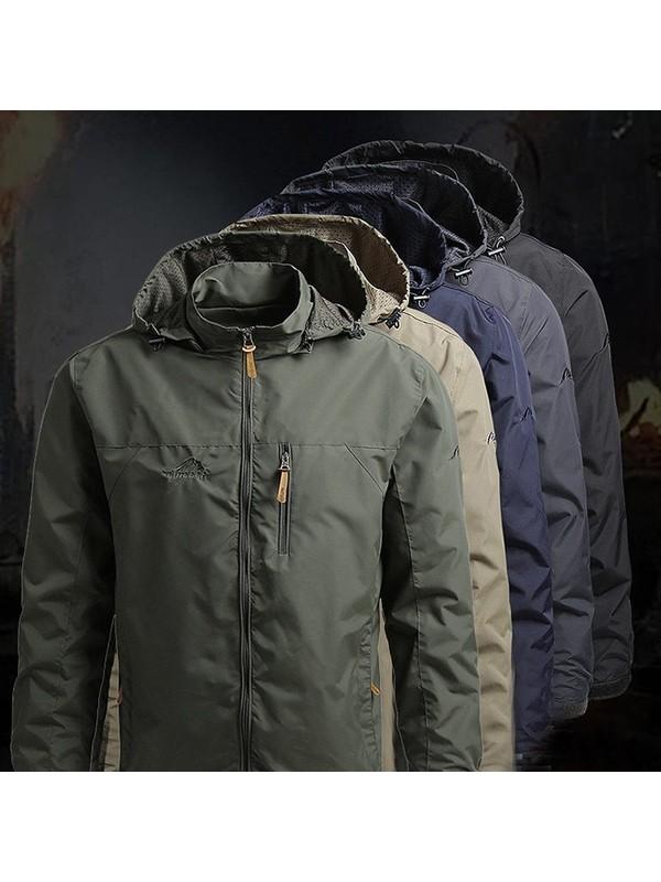 Men's Sportswear Outdoor Waterproof Jacket Raincoat