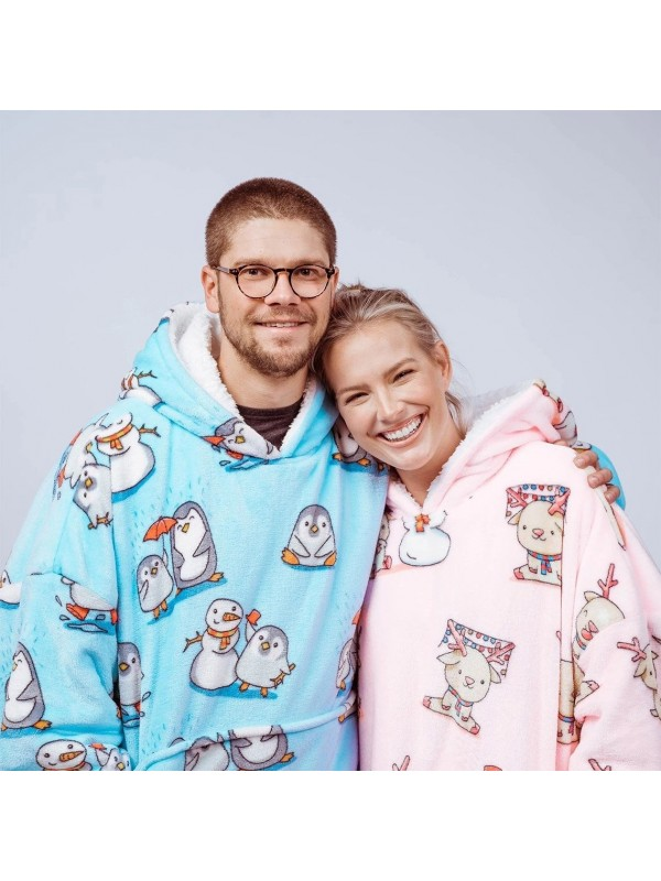Wearable Blanket with Sleeves and Pocket