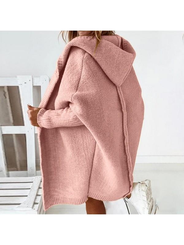 Women Fashion Loose Hooded Sweater
