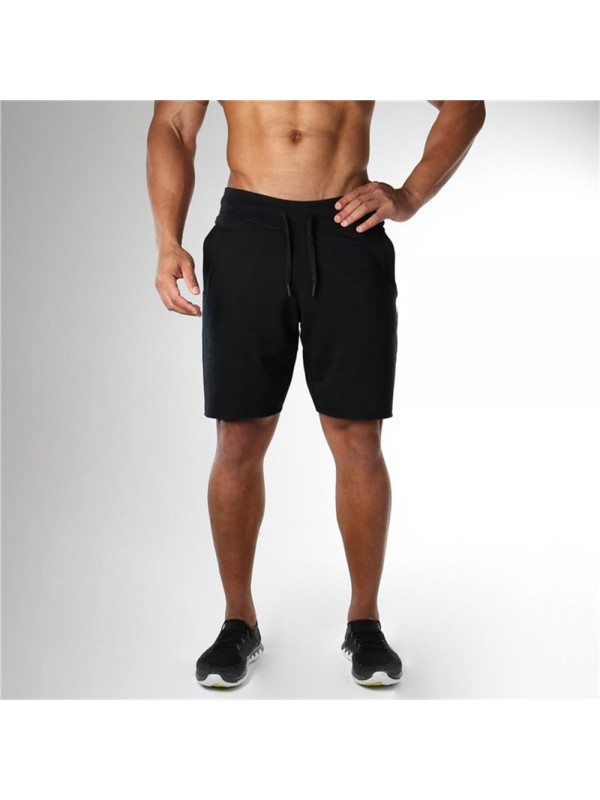 Men's Solid Color Sports Fitness Shorts