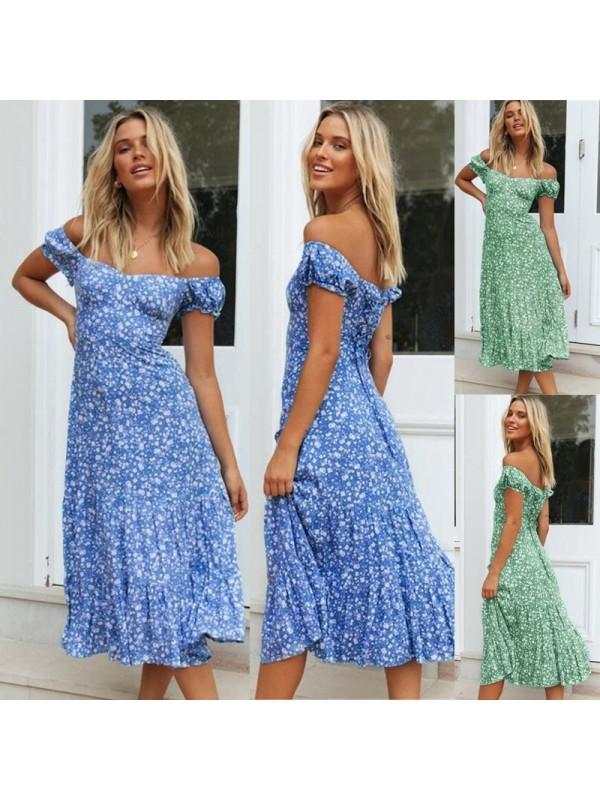 Sexy Printed Long Dress