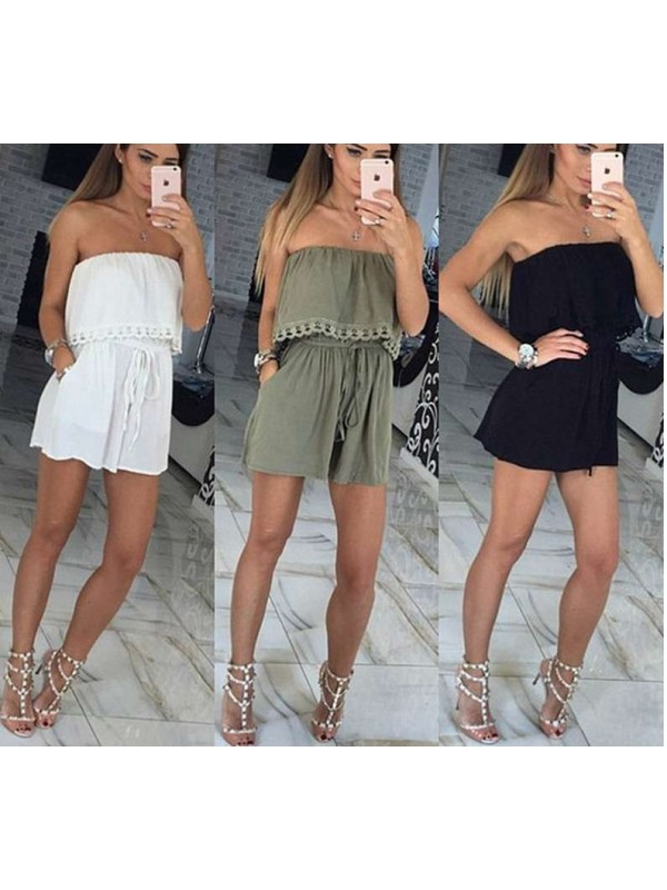Women's Off the shoulder Straples Sexy Jumpsuits
